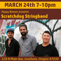 Portland's Scratchdog Stringband Plays Live March 24th