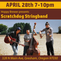 Live Music Featuring Portland's Scratchdog Stringband