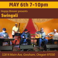 Listen to Swingali Play Jazz Live on May 6th