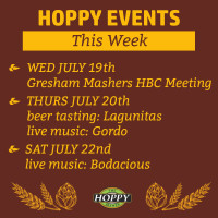 Live Music & Beer Tasting Events | July 19th – July 22nd