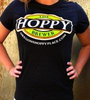 The_Hoppy_Brewer_Ladies_Logo_T-Shirt