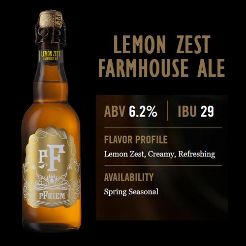 Enjoy a Pint of Lemon Zest Farmhouse Ale at Hoppy's