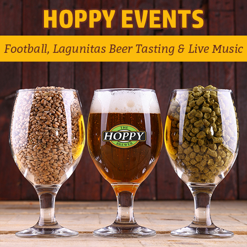 Hoppy_Brewer_Football_Monday Night Football, Lagunitas Beer Tasting Event & Live Swing Music
