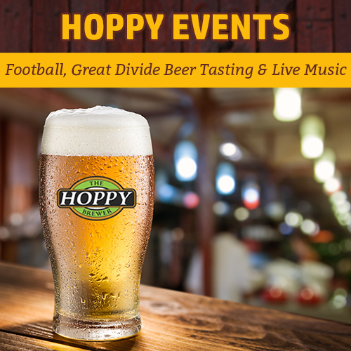 Hoppy_Brewer_Monday Night Football, Great Divide Beer Tasting Event & Live Bluegrass Music