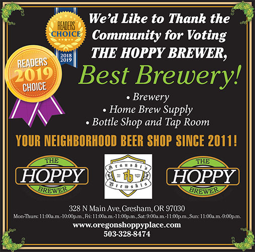 Readers Choice Voted Best Brewery