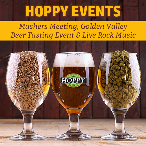 Hoppy Brewer_Mashers Meeting, Golden Valley Beer Tasting Event & Live Rock Music