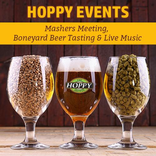Hoppy Brewer_This Week_Mashers Meeting, Boneyard Beer Tasting & Live Music