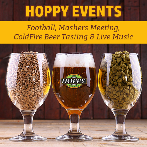 Hoppy Brewer_This Week_Football, Mashers Meeting, Beer Event & Live Music