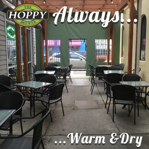 The Hoppy Brewer_Beer Garden always warm and dry