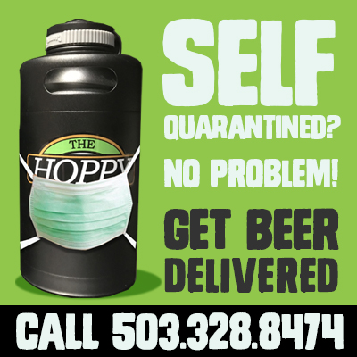 beer delivery by hoppy brewer, oregons hoppy place