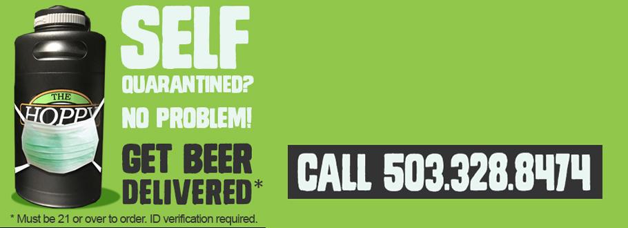 hoppy brewer ad banner for beer delivery in Gresham
