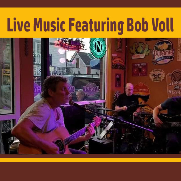 Live music at the Hoppy Brewer featuring Bob Voll